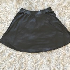 Black pleather skater girl skirt